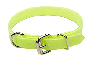 """Premier Nite Lite Day-Glo Collar in Neon Yellow, D-Ring in Front, 3/4"""" x 16"""""""