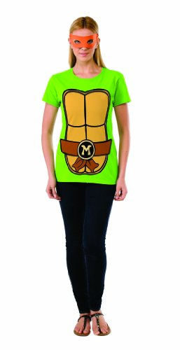 Rubie's Costume Teenage Mutant Ninja Turtles Top With Mask and Michelangelo