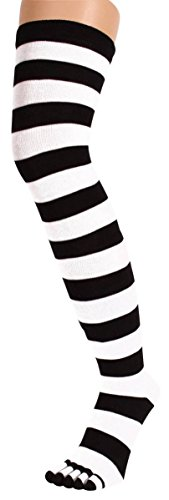 new-womens-over-knee-long-horizontal-stripe-print-ladies-thigh-high-striped-patterned-overknee-socks