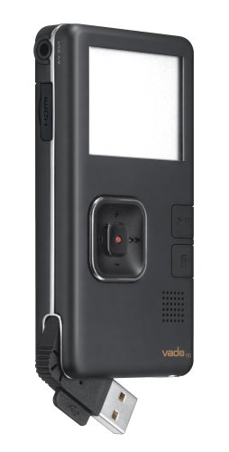Creative Labs Vado HD 720p Pocket Video Camcorder with 8 GB Video Storage and 2x Digital Zoom (Black) OLD MODEL