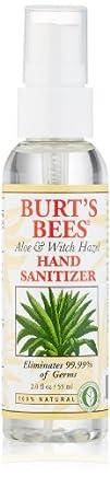Burts Bees Hand Sanitizer Aloe   Witch Hazel 2 Ounce Bottle