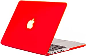 """Kuzy - Retina 13-Inch RED Rubberized Hard Case for MacBook Pro 13.3"""" with Retina Display A1502 / A1425 (NEWEST VERSION) Shell Cover - RED"""