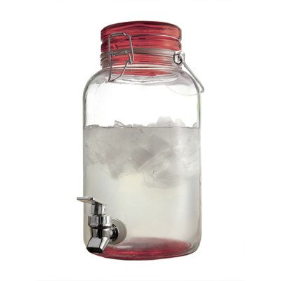 Style Setter 210898-rd Mason Beverage Dispenser, Red