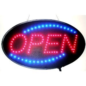 LED Neon Light Open Sign With Animation On/off and Power On/Off two Switchs for Business RS30