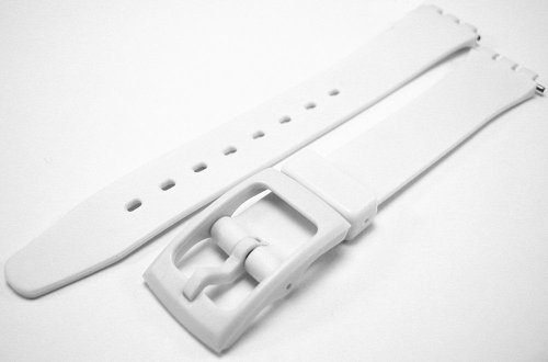 Swatch Style White Resin Rubber Watch Strap Band 14mm