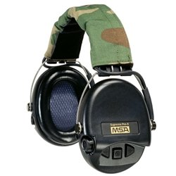 Msa Supreme Pro-X Headband, Black Cups/Camo Headband