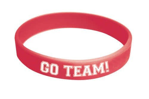 Classic Red Go Team Bracelet
