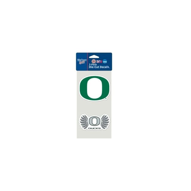 Oregon Ducks Set of 2 Die Cut 4 x 4 Decals