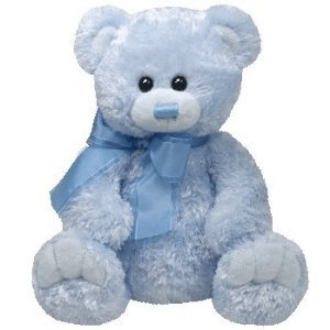 TY Classic Plush - RADCLIFFE the Blue Bear (9.5 inch) - 1