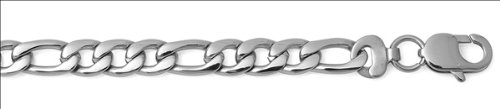 8mm Stainless Steel Figaro Chain Necklace/Bracelet 8-30