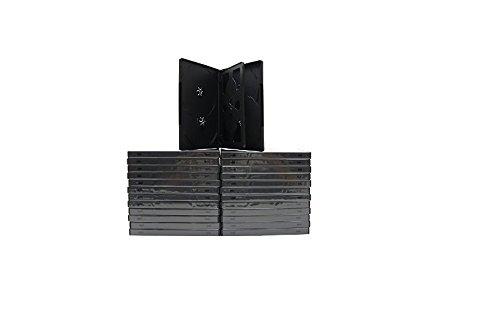 MasterStor-Confezione da 10 custodie per 6 DVD/CD/DVD, 14 mm, per 6 dischi con Tray nero