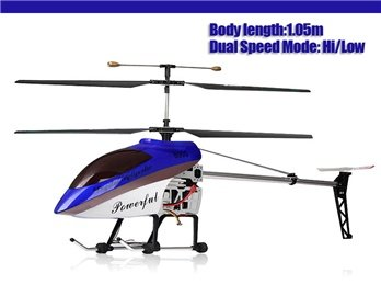 G.T.Model QS8005 Wireless 3 Channel Alloy RC Helicopter with Gyroscope (Blue)
