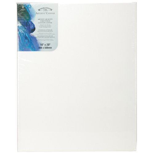 Winsor & Newton Artists' Stretched Canvas Cotton 16 x 20 Inches (6005120)
