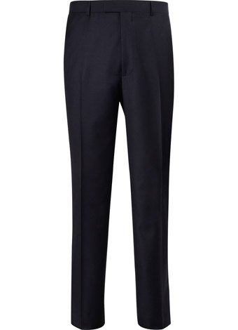 Austin Reed Contemporary Fit Navy Sharkskin Trousers REGULAR MENS 30