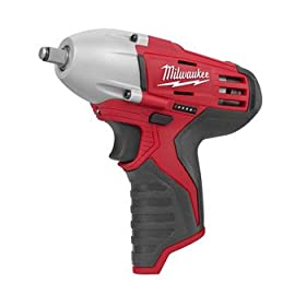 Bare-Tool Milwaukee 2451-20 M12 12-Volt 3/8-Inch Cordless Square Drive Impact Wrench with Ring - (Tool Only, No Battery)