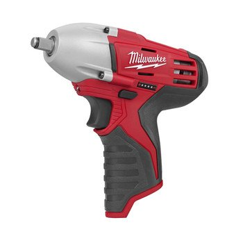 Bare-Tool Milwaukee 2451-20 M12 12-Volt 3/8-Inch Cordless Square Drive Impact Wrench with Ring – (Tool Only, No Battery)