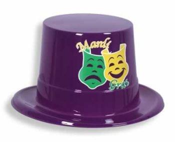 Printed Mardi Gras Topper (purple) Party Accessory  (1 count)