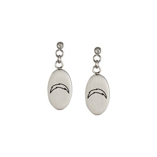 Stainless Steel San Diego Chargers Logo Dangle Earrings PAIR 27.60MM X 10.00MM