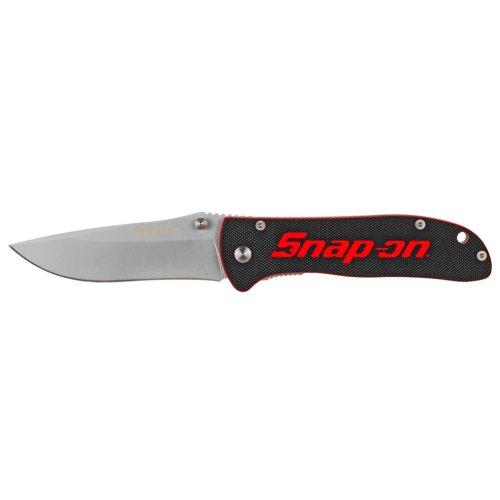 "Snap-On 871049 Liner Lock G10 Handle Blade, 3-5/8"", Black"
