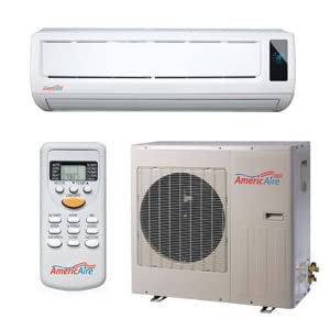 AmericAire ACE12HP110 12,000 BTU 13 SEER Ductless Mini-Split Heat Pump....