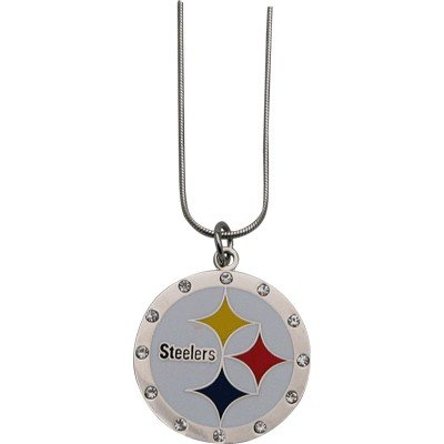"Necklace Steelers Rhinestone Silver Tone 20"" by PrivateLabel"