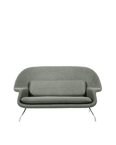 Kardiel Womb Mid-Century Modern Loveseat Sofa, Grey