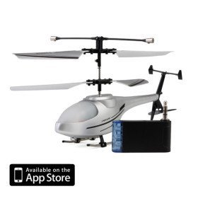 3 Channel I-Helicopter 777-171 with Gyro Controlled by iPhone/iPad/iPod iTouch (Silver)
