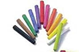 Dixon : Ambrite Paper Chalk, Assorted Colors, 12 Sticks per Set -:- Sold as 2 Packs of - 12 - / - Total of 24 Each
