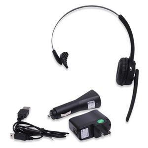 Stereo Single Ear Bluetooth Over The Head Headset