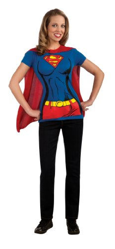 DC Comics Super-Girl T-Shirt With Cape Costume