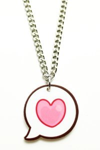 Kawaii Heart Bubble Necklace