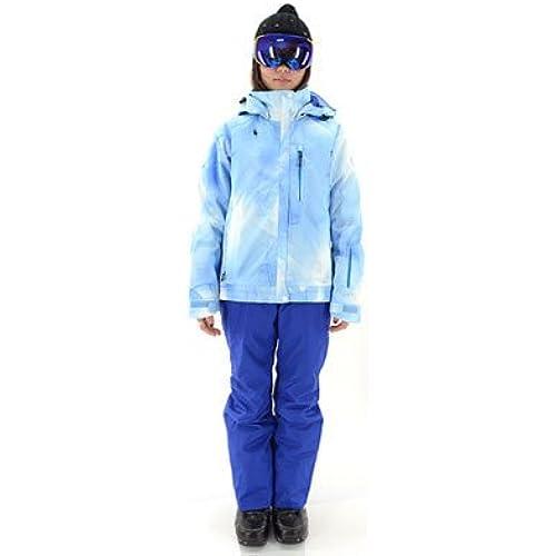 [해외] ON・YO・NE(온요네)레이디스 스키 웨어 상하 세트 다운 재킷 ONS89411- (SIZE:SMALL|COLOR:651P×713색스폰×블루)
