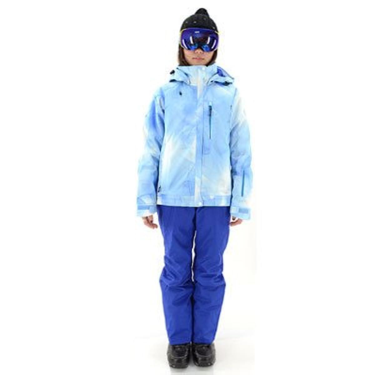 [해외] ON・YO・NE(온요네)레이디스 스키 웨어 상하 세트 다운 재킷 ONS89411- (SIZE:SMALL COLOR:651P×713색스폰×블루)