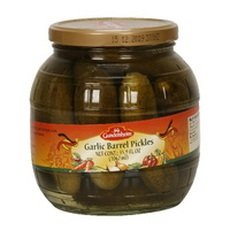 Kuhne Garlic Barrel Pickles, 34.2 Ounce (Pack of 6)