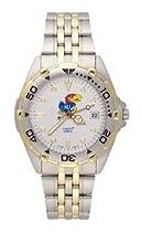 Kansas Jayhawks Mens All Star Sterling Silver Bracelet Watch