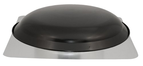 Cool Attic CX3000EEAMBL Power Attic Roof Mount Ventilator with 2.1-Amp PSC Motor and Steel Flange, Black Galvanized Steel Dome