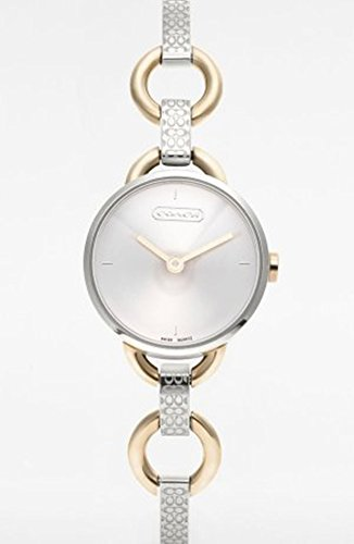 Coach Women's Watch Signature Etched Two Tone bracelet Mini Whitney 14500914 Swiss Quartz
