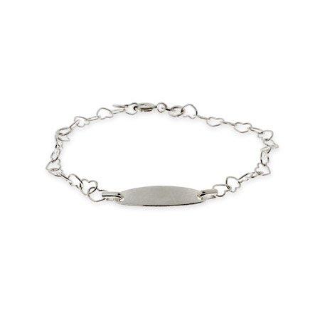 Kids Heart Link ID Bracelet