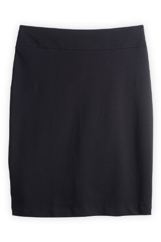 Fair Indigo Organic Pima Cotton Knit Pencil Skirt