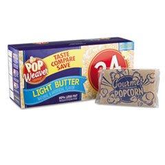 Microwave Popcorn, Light Butter Flavor, 24/Pack