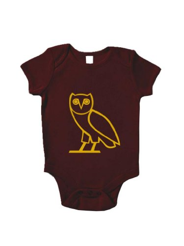 Blue Ivory Ovo Owl New Baby Grow Hip Hop Retro Baby Shower Gift Novelty front-12781