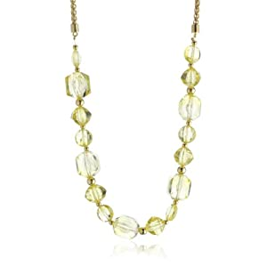 "Kate Spade New York ""Sparkle Plenty"" Yellow Resin Necklace 24"""