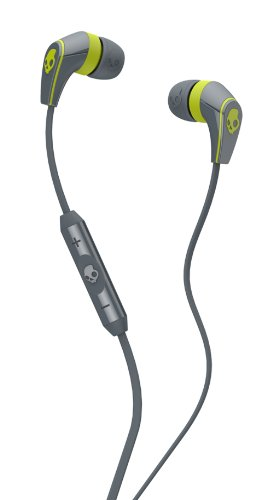 Skullcandy - 50/50 Ear Buds In Gray/ Hot Lime