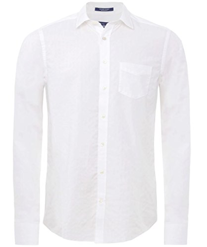 Gant Regular Fit Camicia Dobby Bianco XL