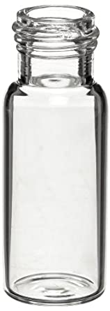 Wheaton W225150 Borosilicate Glass 1.8mL ABC Screw Cap Vial, Clear (Case of 1000)