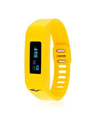 Everlast Men's EVWTR011YE Yellow Wireless Fitness Activity Tracker Bluetooth LED Display Watch