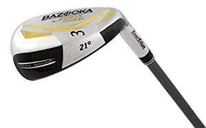 Tour Edge Men's Bazooka JMAX SW Gold Iron-Wood (Left Hand, Graphite Senior Flex)