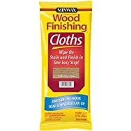 Minwax 308200000 Minwax Wood Stain & Finish Wipes-OAK WIPE STAIN CLOTH