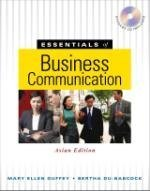 Essentials of Business Communication, Asian Edition (For Sale in Asia Only!)