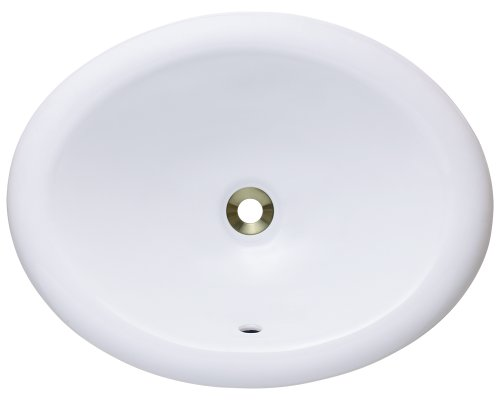 MR Direct o1917-w Overmount Porcelain Vanity Bowl